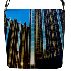 Two Abstract Architectural Patterns Flap Messenger Bag (s)