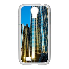 Two Abstract Architectural Patterns Samsung GALAXY S4 I9500/ I9505 Case (White)