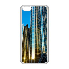 Two Abstract Architectural Patterns Apple iPhone 5C Seamless Case (White)