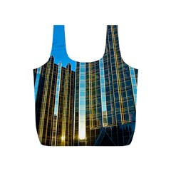 Two Abstract Architectural Patterns Full Print Recycle Bags (s)