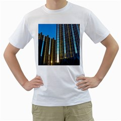 Two Abstract Architectural Patterns Men s T-Shirt (White)