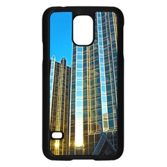 Two Abstract Architectural Patterns Samsung Galaxy S5 Case (Black)