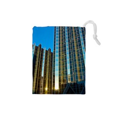 Two Abstract Architectural Patterns Drawstring Pouches (Small)