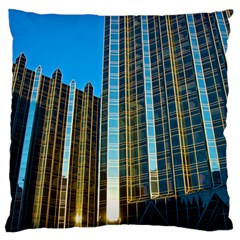 Two Abstract Architectural Patterns Large Flano Cushion Case (One Side)