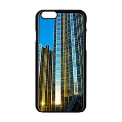 Two Abstract Architectural Patterns Apple iPhone 6/6S Black Enamel Case