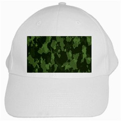 Camouflage Green Army Texture White Cap