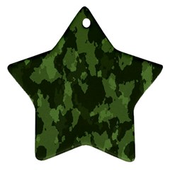 Camouflage Green Army Texture Ornament (star)