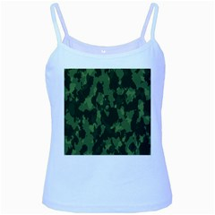 Camouflage Green Army Texture Baby Blue Spaghetti Tank