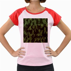 Camouflage Green Army Texture Women s Cap Sleeve T Shirt