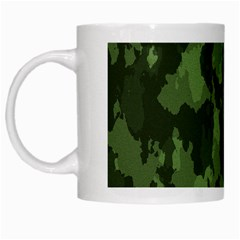 Camouflage Green Army Texture White Mugs