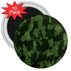 Camouflage Green Army Texture 3  Magnets (10 Pack)