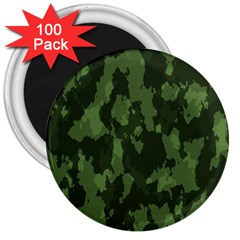 Camouflage Green Army Texture 3  Magnets (100 pack)