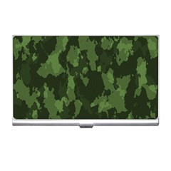 Camouflage Green Army Texture Business Card Holders