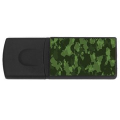 Camouflage Green Army Texture USB Flash Drive Rectangular (2 GB)