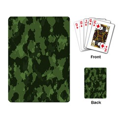 Camouflage Green Army Texture Playing Card