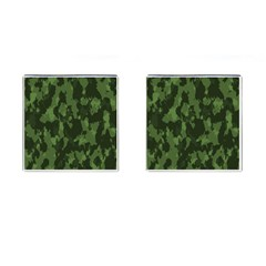 Camouflage Green Army Texture Cufflinks (Square)