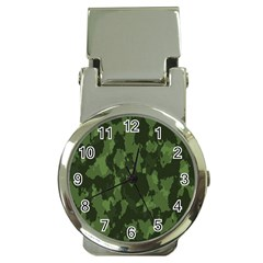 Camouflage Green Army Texture Money Clip Watches