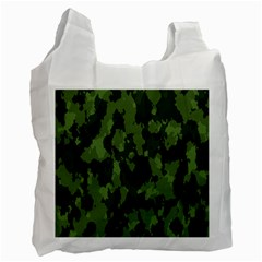 Camouflage Green Army Texture Recycle Bag (two Side)