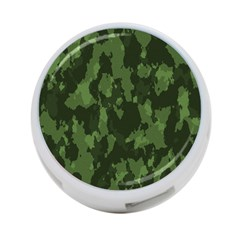 Camouflage Green Army Texture 4 Port Usb Hub (one Side)