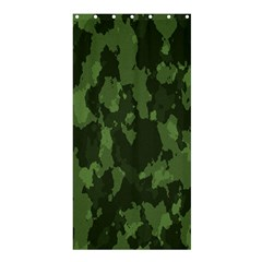 Camouflage Green Army Texture Shower Curtain 36  X 72  (stall)