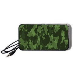 Camouflage Green Army Texture Portable Speaker (Black)
