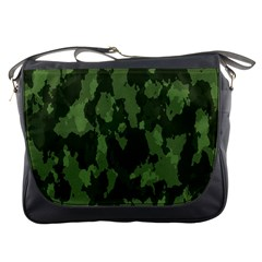 Camouflage Green Army Texture Messenger Bags