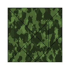 Camouflage Green Army Texture Acrylic Tangram Puzzle (6  x 6 )