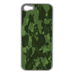 Camouflage Green Army Texture Apple iPhone 5 Case (Silver)