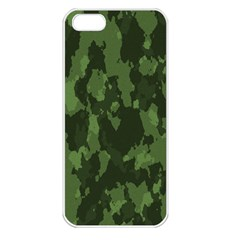 Camouflage Green Army Texture Apple iPhone 5 Seamless Case (White)