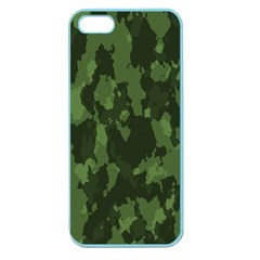 Camouflage Green Army Texture Apple Seamless Iphone 5 Case (color)