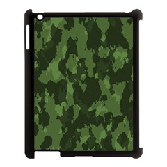 Camouflage Green Army Texture Apple iPad 3/4 Case (Black)