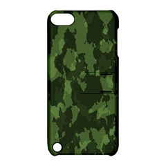 Camouflage Green Army Texture Apple iPod Touch 5 Hardshell Case with Stand