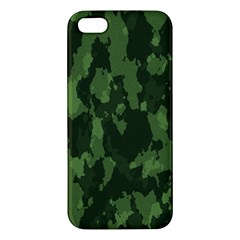 Camouflage Green Army Texture Apple iPhone 5 Premium Hardshell Case