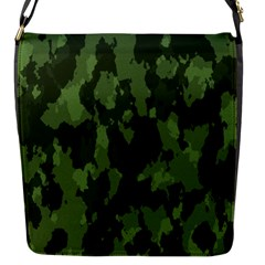 Camouflage Green Army Texture Flap Messenger Bag (s)