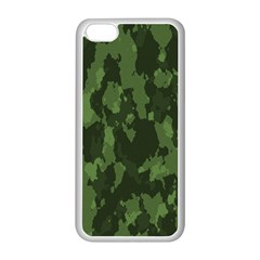 Camouflage Green Army Texture Apple iPhone 5C Seamless Case (White)