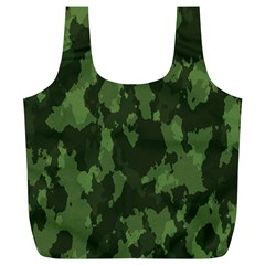 Camouflage Green Army Texture Full Print Recycle Bags (L)