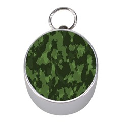 Camouflage Green Army Texture Mini Silver Compasses