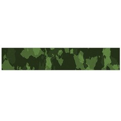 Camouflage Green Army Texture Flano Scarf (Large)