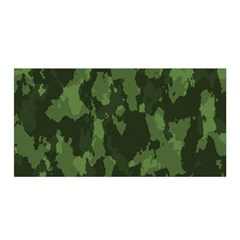 Camouflage Green Army Texture Satin Wrap