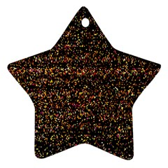 Pixel Pattern Colorful And Glowing Pixelated Ornament (star)