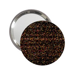 Pixel Pattern Colorful And Glowing Pixelated 2 25  Handbag Mirrors