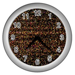 Pixel Pattern Colorful And Glowing Pixelated Wall Clocks (silver)