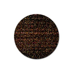 Pixel Pattern Colorful And Glowing Pixelated Rubber Round Coaster (4 pack)