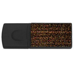 Pixel Pattern Colorful And Glowing Pixelated USB Flash Drive Rectangular (2 GB)