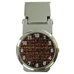 Pixel Pattern Colorful And Glowing Pixelated Money Clip Watches