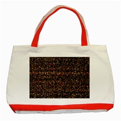Pixel Pattern Colorful And Glowing Pixelated Classic Tote Bag (Red)