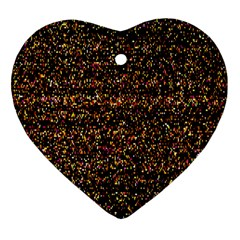 Pixel Pattern Colorful And Glowing Pixelated Heart Ornament (two Sides)