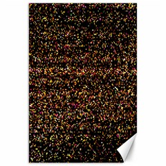 Pixel Pattern Colorful And Glowing Pixelated Canvas 20  X 30
