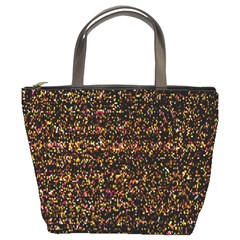Pixel Pattern Colorful And Glowing Pixelated Bucket Bags
