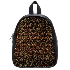 Pixel Pattern Colorful And Glowing Pixelated School Bags (Small)